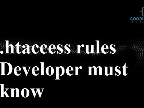 Some Useful .htaccess rules Developer must know