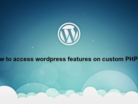 How to access wordpress functions and database in custom php file