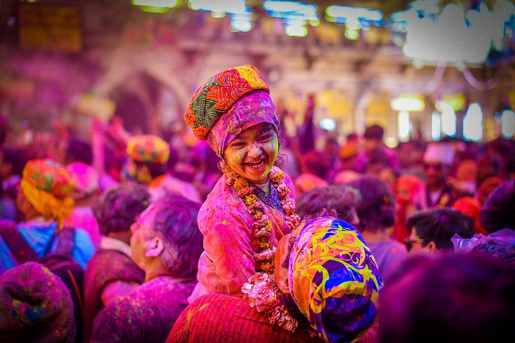 Holi in various area in india
